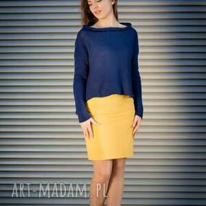 bawełniany granatowy sweter, sweter damski, bawełniany, bluza