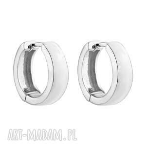 srebrne kolczyki grube kółka - eleganckie, koła, srebro