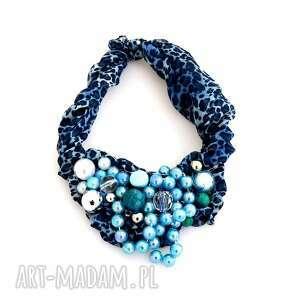blue my mind naszyjnik handmade - naszyjnik, niebieski, granat