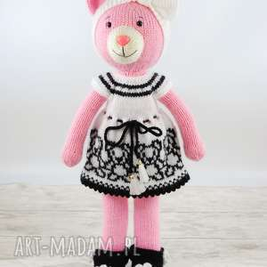 miś - szmacianka, wełna, lalka, maskotka, przytulanka, zabawka