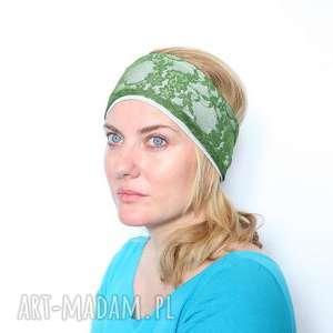 Prezent opaska zielona koronkowa handmade, opaska, koronka, zielona, mama, kobieca