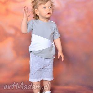 gapula bluzeczka na lato z aplikacją szaro-biała, bawełna, aplikacja