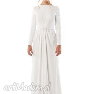CRISTINA PATRIA 2 : BIAŁA SUKNIA, ślubna, suknia, jersey