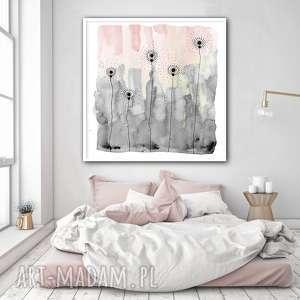 plakaty łąka 50x50cm, plakat, łąka, akwarela, kwiaty, pastel