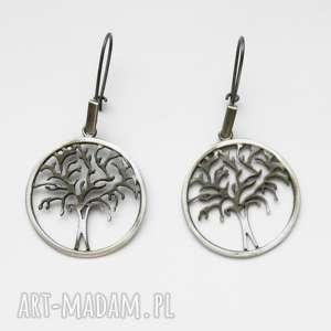 venus galeria ażurowe drzewka - kolczyki srebrne, srebro, kolczyki, ażurowe