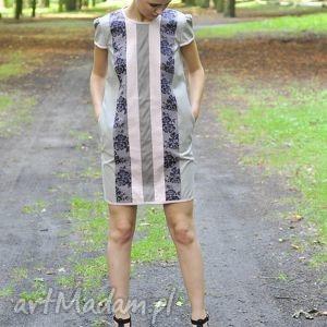 sukienki sukienka cream spring dress, sukienka, luźna, kieszeniami, tunika, prosta