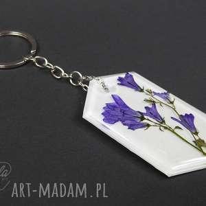 0142~mela~ duży brelok do kluczy z żywicy, kwiaty, brelok, do-kluczy, żywica, epoksyd