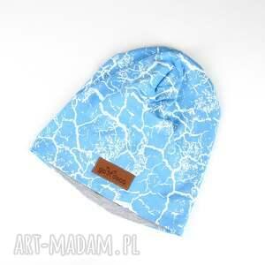 czapka beanie unisex ciepła niebieska - czapka, beanie, kolorowa, ciepła, prezent