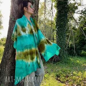 ręczne wykonanie szaliki szal wełniany w zielonościach