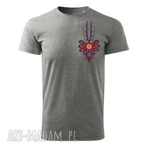 koszulki tatra art - podhalańska klasyka parzenica t-shirt męski szary, koszulka