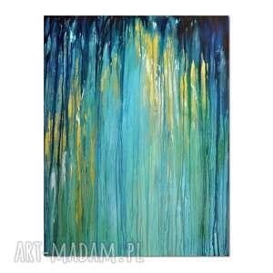 głębia 35, abstrakcja, obraz ręcznie malowany, obraz