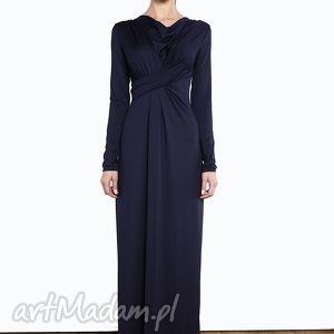 sukienki suknia z dekoltem wodą i draperią 1415/40, suknia, dekolt