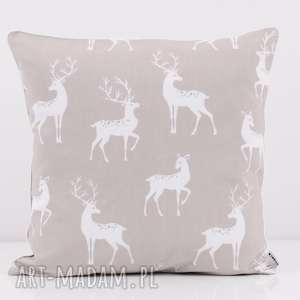 majunto poduszka beige deer 50x50cm od majunto, 50x50, jeleń, stockholm