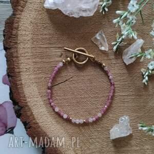 bransoletka z turmalinem i kwarcem - cherry blossom vi