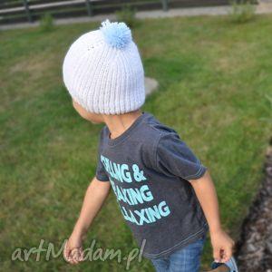 czapka Pompon, czapka, czapeczka, antyalergiczna, włóczka, niemowlę, dziecko