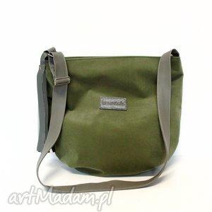 long hobo, torba, szyta, zielona, wojskowa, modna torebki, świąteczne prezenty
