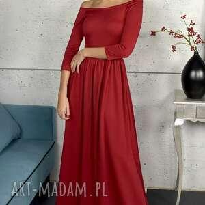 sukienki wieczorowa sukienka hiszpanka, maxi, kieszenie, wieczorowa, elegancka