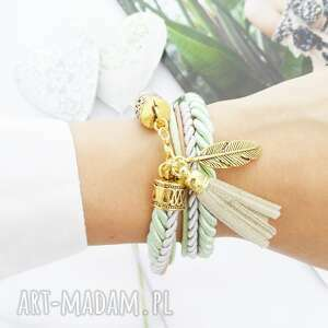 handmade bransoletki golden feather