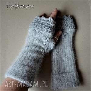 rękawiczki mitenki - rękawiczki, mitenki, wełna, wełniane, prezent