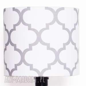 Abażur FRESH GREY-WHITE 25x25x22cm od majunto, abażur, koniczyna-marokańska