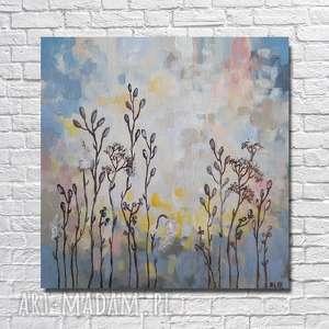łąka-obraz akrylowy formatu 30/30cm, obraz, łąka, płótno, akryl, kwadrat, nowoczesny