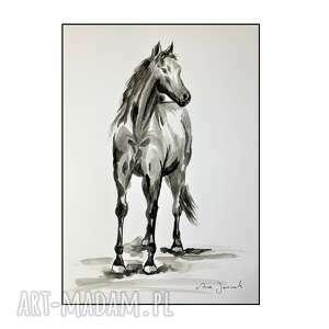 unikalne, koń iv, kon, konik, grafika, rysunek, ręcznie