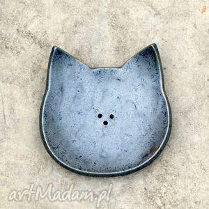ceramika mydelniczka ceramiczna, mydelniczka, łazienka, ceramika, rękodzieło, kot