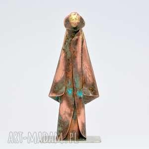 langner design figurka z miedzi i mosiądzu, figurka, dama, miedź, mosiądz
