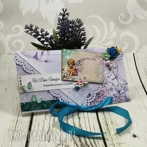 shiraja kartka z okazji urodzin k44, urodziny, kopertówka, elf