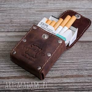 skórzane etui na papierosy wersja slim i klasyczne, papierośnica, papierośnica