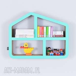 Półka na książki zabawki DOMEK ecoono | miętowy, półka, chłopiec, dziewczynka