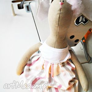 pani królik - maskotka, zabawka, inna, szmaciana, przytulanka, tilda