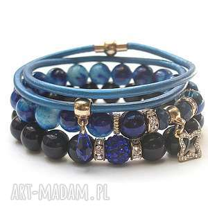hand-made bransoletki kobaltowy vol. 13 /10.06.17/ set