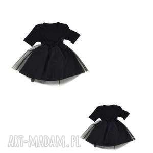 Sukienka czarna dla mamy i sukienka dziecka , sukienka-mama-dzieck