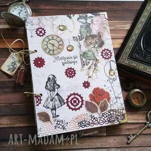 scrapbooking notesy pamiętnik/ notes /alicja w krainie czarów, pamiętnik