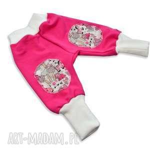 62,68,80 różowe legginsy spodnie haremki joggersy dla dziewczynki, bawełniane