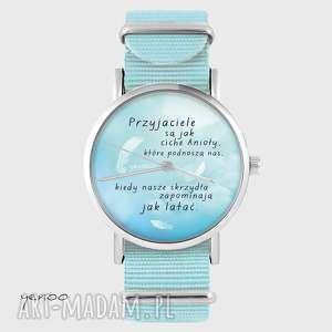 ręcznie robione zegarki zegarek, bransoletka - przyjaciele niebieski, nato