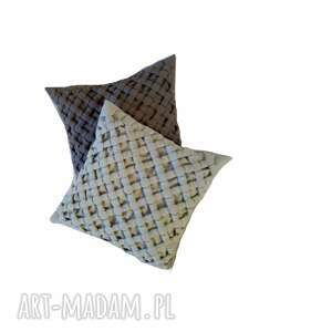 Komplet poduszek canadian origami szara i popielata poduszki