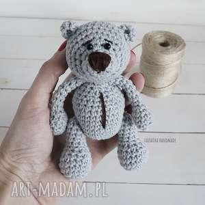 vairatka-handmade miś amigurumi szary 291 - breloczek misio