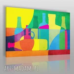 obrazy obraz na płótnie - butelki karafki 120x80 cm 57001, butelki