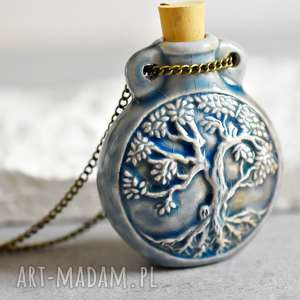 pachnące drzewo życia peruańska ceramika - ceramika, las, magiczny, drzewo