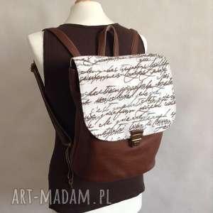 handmade skórzany plecak