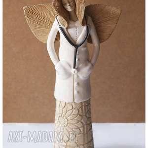 Anioł lekarka II, ceramika, anioł, lakarz