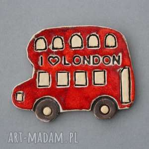 Prezent London-magnes ceramika, autobus, londyn, wielbiciel, pamiątka, prezent