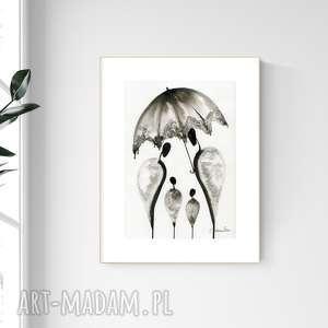 grafika a4 malowana ręcznie, minimalizm, abstrakcja czarno-biała, 2476589