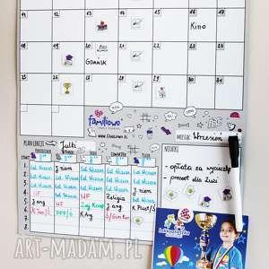 hand-made pokoik dziecka planer szkolny dla ucznia na ścianę lub szaflę - plan lekcji