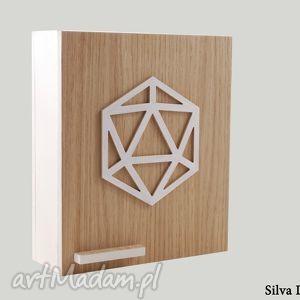 Szafka na klucze GEOMETRIC - skrzynka biała, skrzynka, szafka, klucze, geometryczna