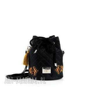 torebka pikowana mini taszka 404, worek, pikowana, mini, kłos, haft