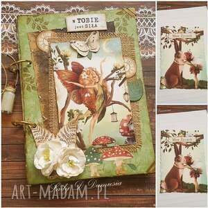 pamiętnik/ sekretnik / enchanted garden, notes, pamiętmik, elfy, życzenia