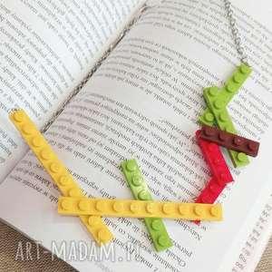 naszyjnik lego kolorowy - naszyjnik z lego, naszyjnik lego, zabawny naszyjnik, naszyjnik z